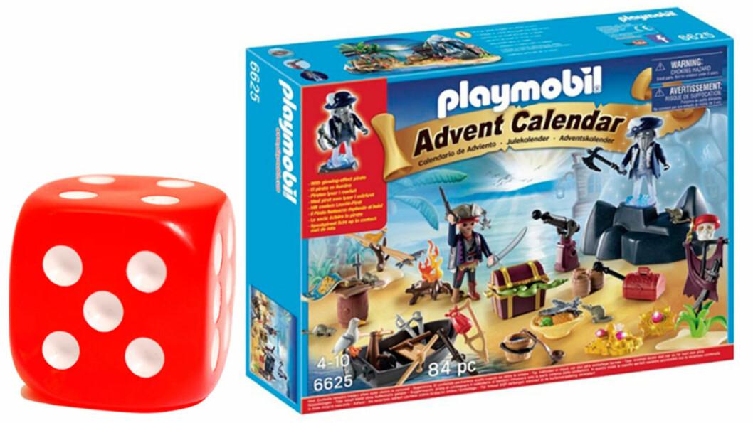 PLAYMOBIL PIRAT ADVENTSKALENDER: Julekalenderen får terningkast fem.