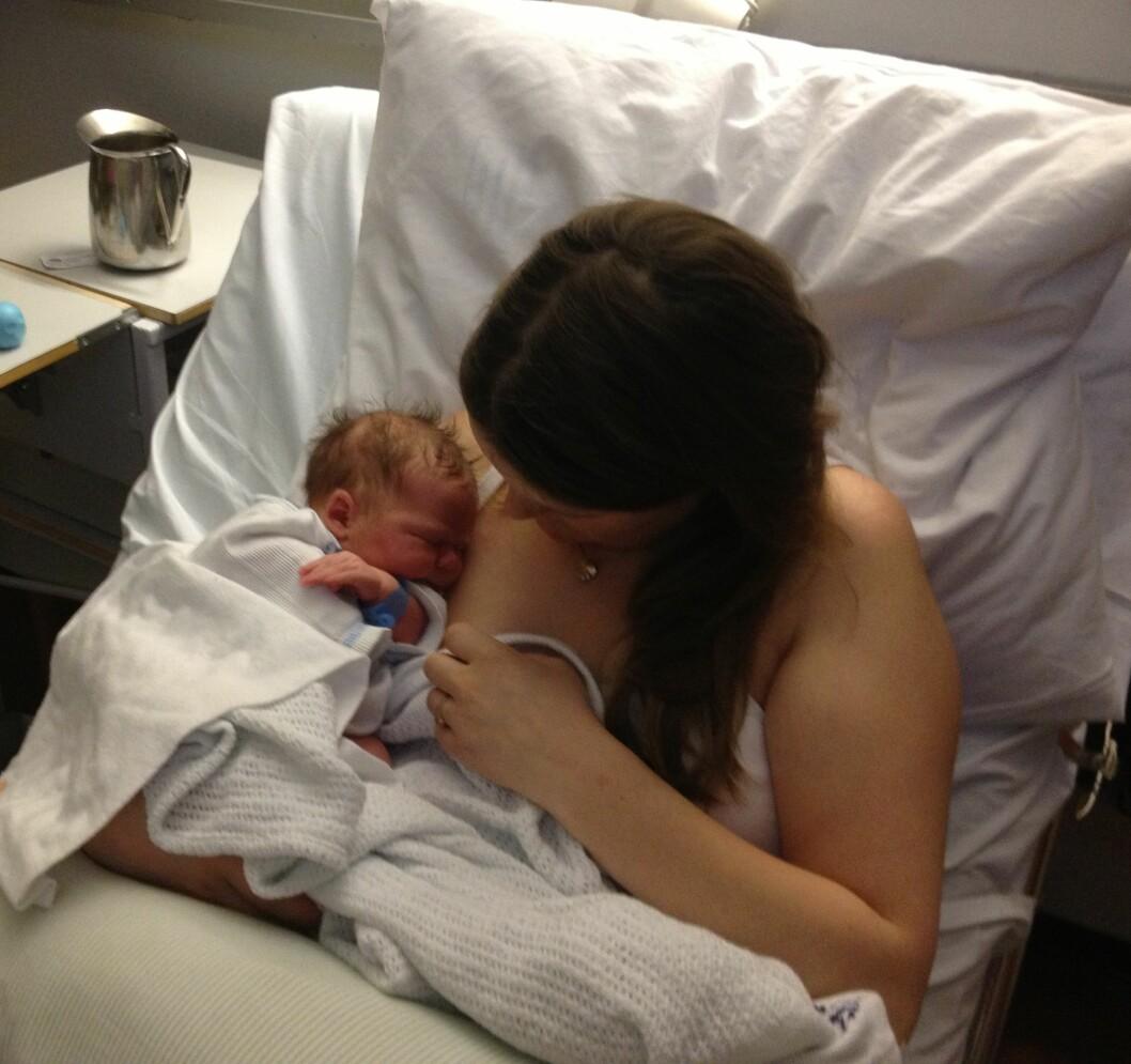 IKKE REDD: Begge Magnhilds barn har blitt født utenfor sykehuset. Foto: Privat