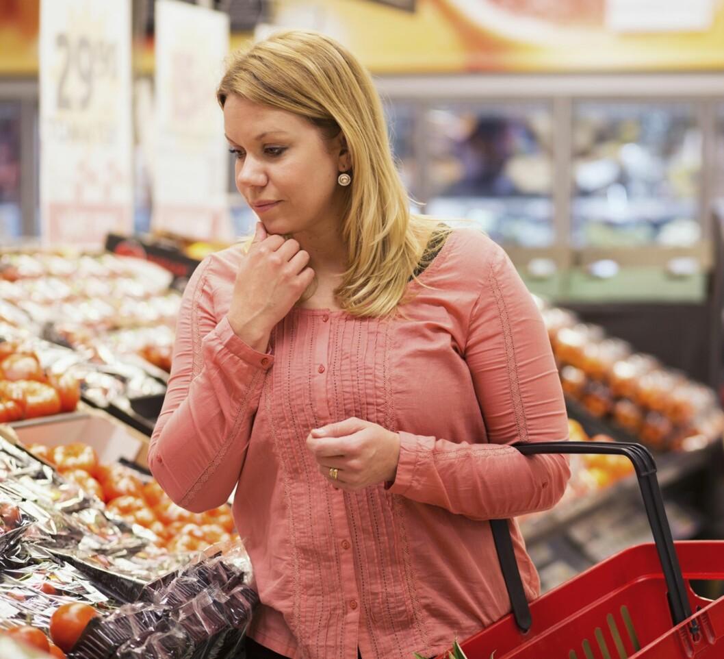 <strong>NYBAKT MAMMA PÅ HANDLETUR:</strong> Butikken synes å være et vanlig åsted for mange ammetåketabber. Foto: NTB Scanpix