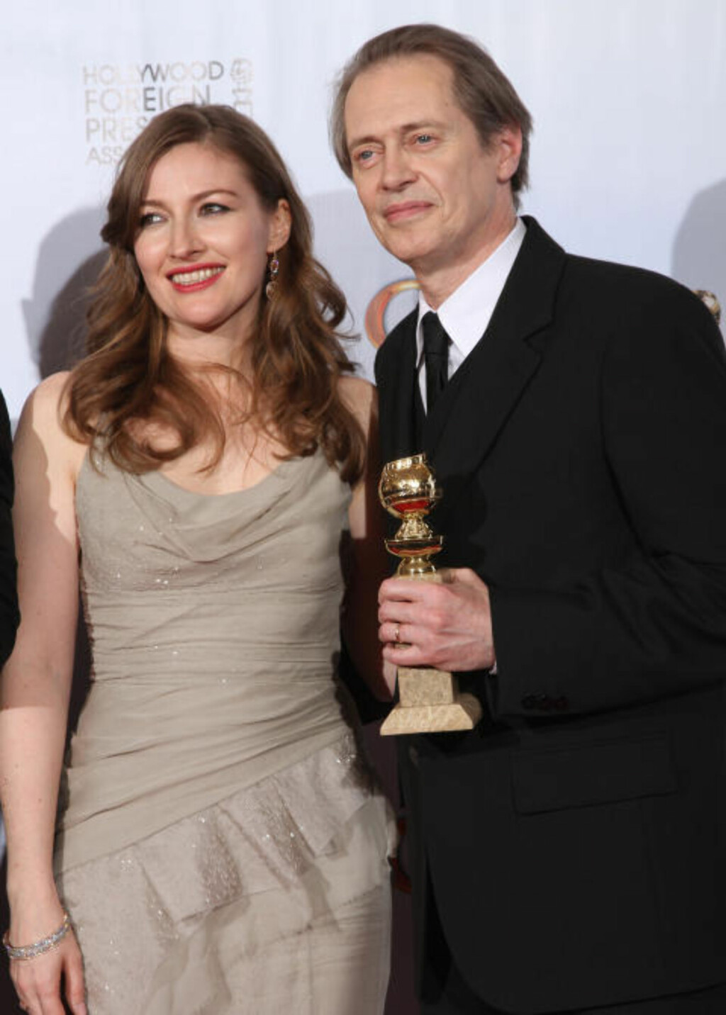 BESTE TV-DRAMA: Steve Buscemi ble hedret for rollen i TV-serien «Boardwalk Empire», der også Kelly Macdonald har en rolle. Foto: SCANPIX/AFP PHOTO  / Valerie Macon