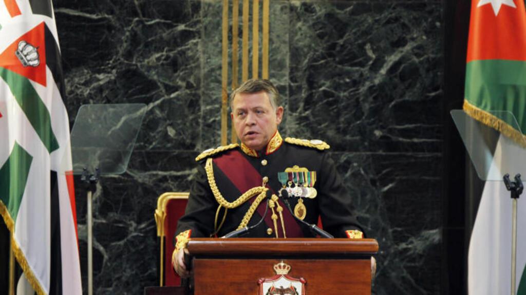 SVÆRT NERVØS: I Jordan er nå kong Abdullah II svært nervøs, ifølge The Jerusalem Post. Mens opposisjonen planleggger nye opptøyer skal monarken ha satt opp et eget «kriseberedskapsrom» for å unngå anarki i landet.  Foto: SCANPIX/REUTERS