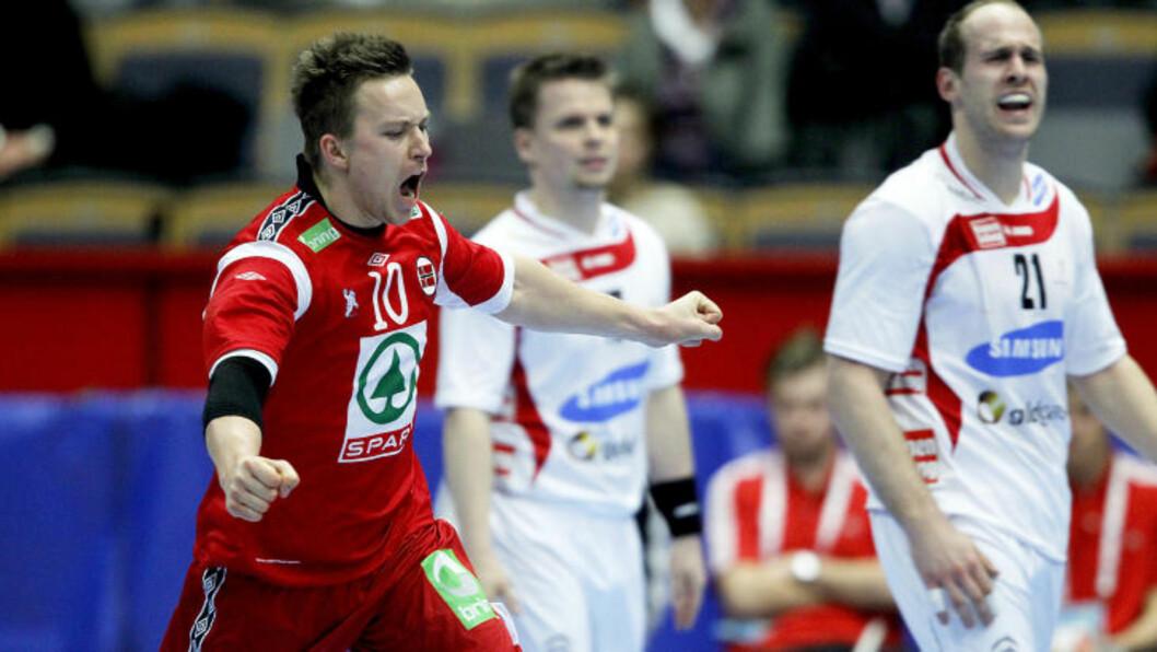 <strong>TIMÅLS-TVEDTEN:</strong> Håvard Tvedten scoret ti mål da Norge slo Østerrike med seks i går kveld.