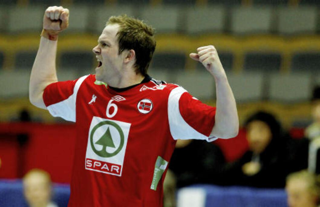 <strong>TILBAKE:</strong> Kjetil Strand var tilbake i spill i går og var med på å sette fart på Norges angrepsspill.