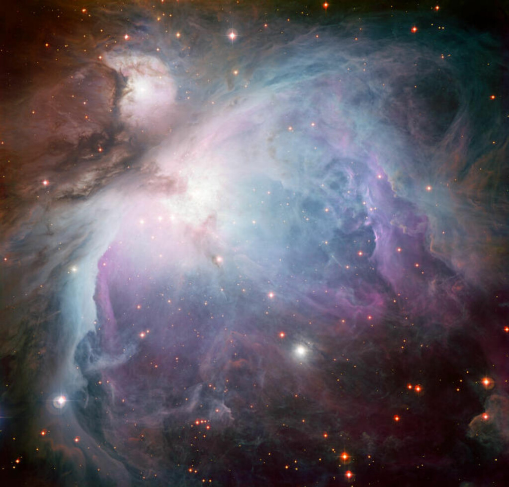 FØDESTUA: - Dette drømmeaktige bildet av Oriontåken er tatt med Wide Field Imager-instrumentet på MPG/ESOs 2,2-metersteleskop ved La Silla-observatoriet i Chile, skriver European Southern Observaty. Foto: European Southern Observaty.