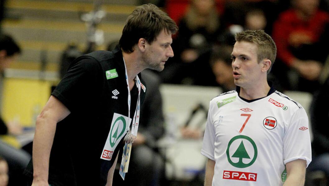 <strong>HIT, MEN IKKE LENGRE:</strong> Verken Robert Hedin eller Lars Erik Bjørnsen er spesielt interessert i at kantspilleren skal få hvile på benken.