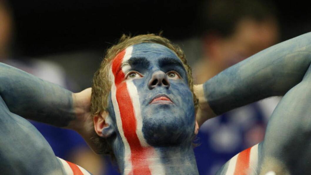<strong>MÅ MALES I SENK:</strong> Det blir trolig en krig mot islendingene i kveld. Norge må være tålmodige, gripe lukene som dukker opp og male Island i senk. Foto: HÅKON MOSVOLD LARSEN/SCANPIX