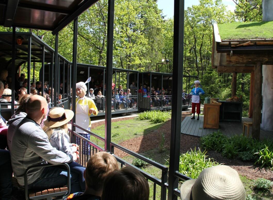 NY ATTRAKSJON: I Dyreparken kan du nå også besøke Hakkebakkeskogen. Foto: Mammanett