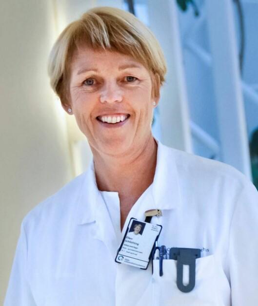 RAMMER FÅ GRAVIDE: Men man kan fint operere brystkreft mens man er gravid, sier ekspert på brystkreft, seksjonsoverlege Ellen Schlichting. Foto: Oslo Universitetssykehus