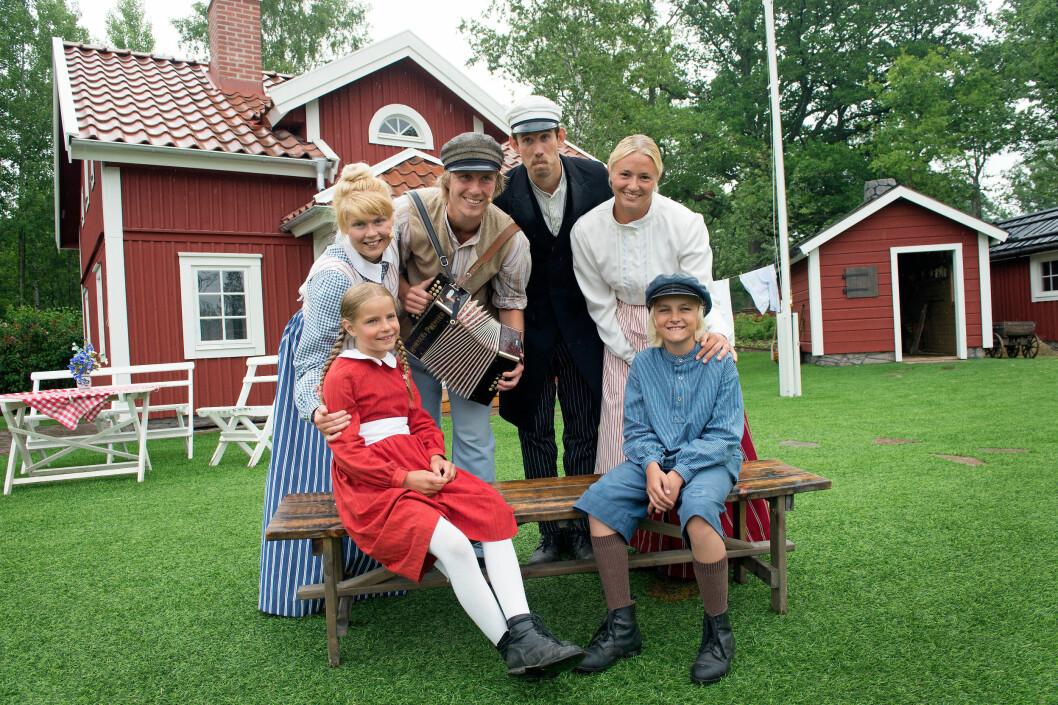 Emil og resten av gjengen i Katthult. Foto: Örjan Karlsson/Astrid Lindgrens Värld