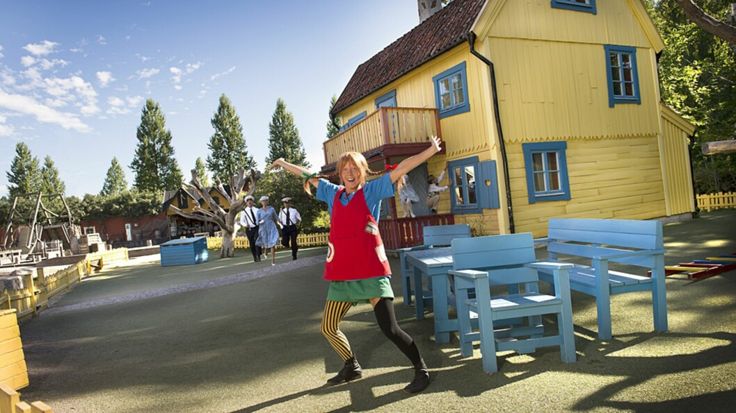 <b>HER KAN DU TREFFE PIPPI LANGSTRØMPE:</b> Astrid Lindgrens Verden har blitt kåret til en av Nordens aller beste familieparker. Foto: Örjan Karlsson/Astrid Lindgrens Värld