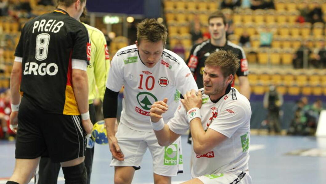 <strong>MÅLGARANTISTER:</strong> Håvard Tvedten scoret åtte og Bjarte Myrhol puttet sju. Foto: HÅKON MOSVOLD LARSEN/SCANPIX