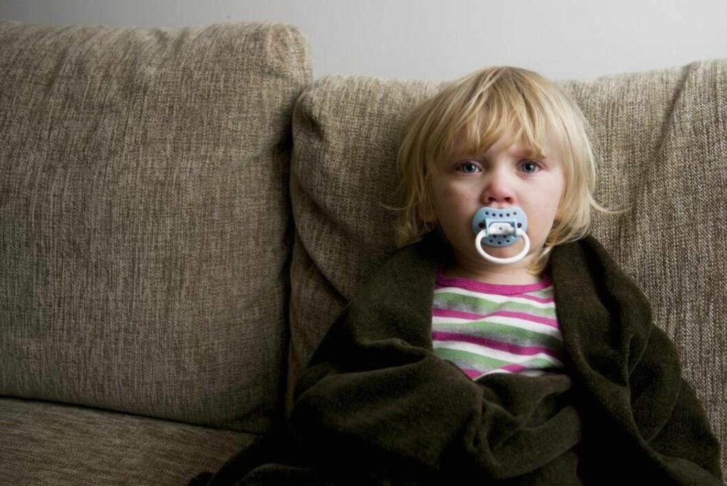 VONDT: Er barnet plaget, oppsøk lege. Foto: NTB scanpix