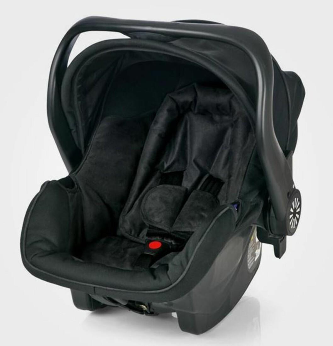 <strong>BRIO:</strong> Bilstolen Brio Primo er designet for å gi det nyfødte barnet en sikker beskyttelse og bekvem komfort i bilen. Ekstra hodetøtte for det lille barnet, myk polstring og en integrert solskjerm utgjør det lille ekstra. Pris cirka kr 1295,-. Foto: Produsenten