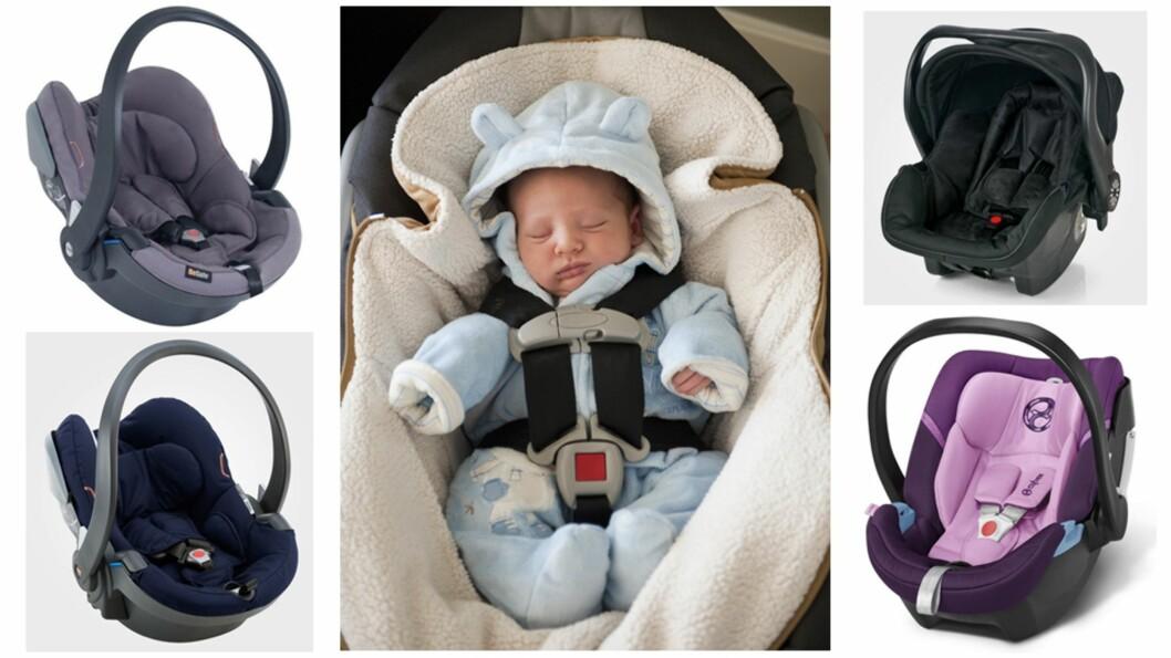 <strong><b>DEN ALLER FØRSTE BILTUREN:</strong></b> Det er en del ting du må passe på før du tar den første turen i bil med babyen din. Foto: Produsentene / NTB Scanpix