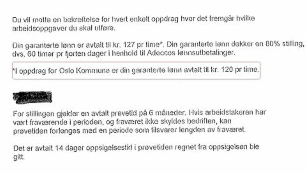 <strong>SKRIVEFEIL:</strong> Dette er andre gang Dagbladet avdekker at Adecco betaler de ansatte mindre enn tariff. Da skyldte de på en «skrivefeil».