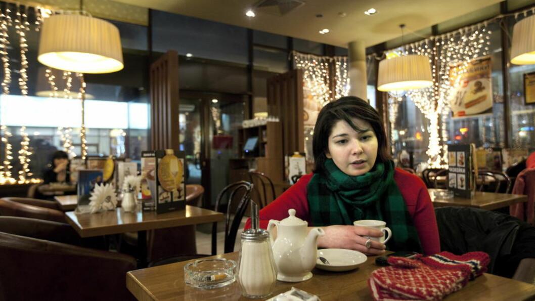 <strong>SKRIVER MER:</strong> Maria Amelie er i Moskva, men fortsetter å skrive på det som kan bli en oppfølger til bestselgerboka «Ulovlig norsk». FOTO: HENNING LILLEGÅRD/DAGBLADET
