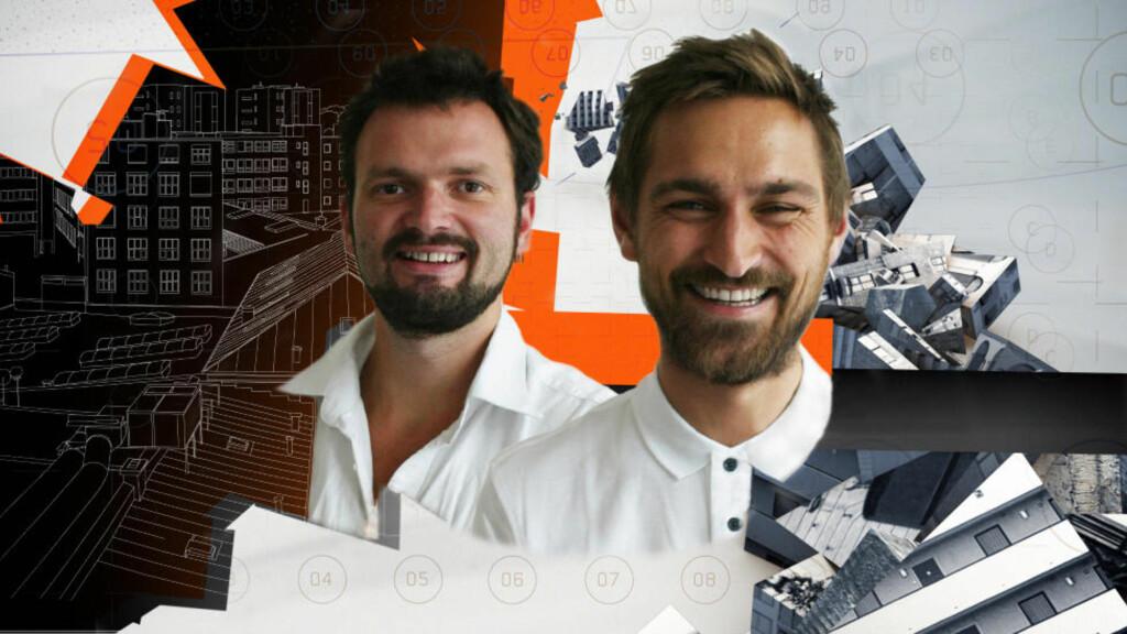 FJOLLETE?: Erlend Blakstad Haffner og Håkon Matre Aasarød er programledere for NRKs nye arkitekturserie.