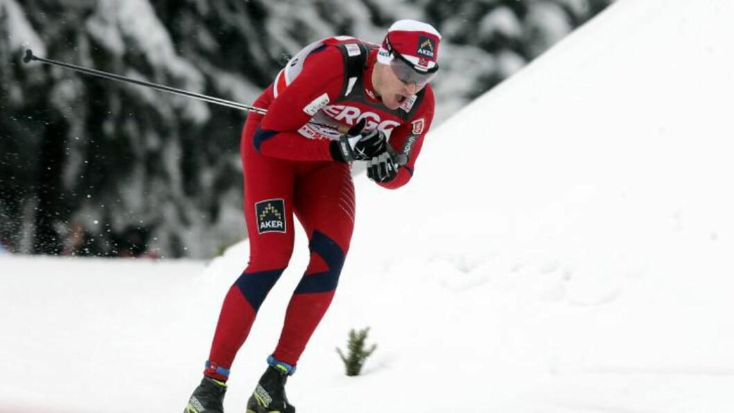 BESTE NORDMANN: Ola Vigen Hattestad har friplass som tittelforsvar, og kunne gå uten press på seg i Rybinsk. Det endte med en annenplass for Ørje-løperen, som dermed ble beste nordmenn.Foto: SCANPIX/EPA/VALDA KALNINA
