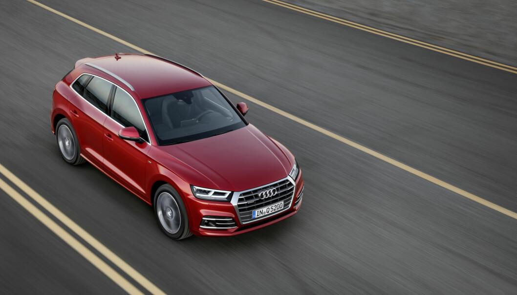 <strong>KLASSISK DRIFT:</strong> Det er ingenting oppsiktsvekkende i motoriseringene som tilbys i Q5 i denne omgang. Foto: Audi