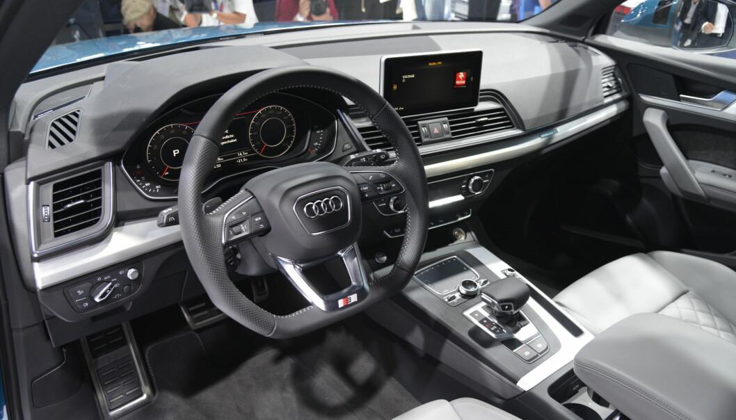 <strong>DIGITALT:</strong> Nye Q5 får Virtual Cockpit, som de andre nye Audiene siden TT. Foto: Jamieson Pothecary