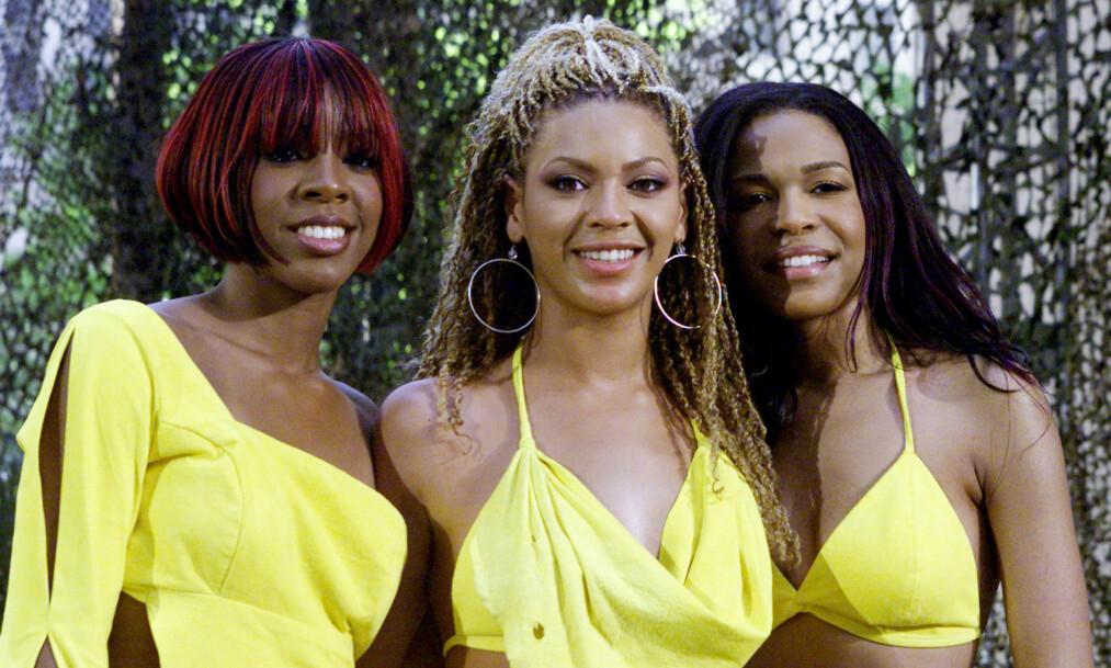 <strong>PÅ TOPP:</strong> Destiny's Child kastet inn håndkle i 2005. F.V: Kelly Rowland, Beyonce Knowles og Michelle William. Foto: NTB / Scanpix