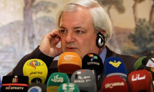 KAN IKKE GI NØDHJELP: Sjef for FNs samordningsorgan OCHA, Stephen O'Brien, er frustrert over at situasjonen i Aleppo. Foto: AFP PHOTO / LOUAI BESHARA