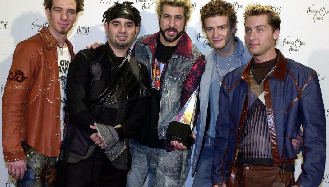 <strong>BOYBAND:</strong> F.v: &nbsp;J.C. Chasez, Chris Kirkpatrick, Joey Fatone, Justin Timberlake og Lance Bass. Foto: NTB / Scanpix