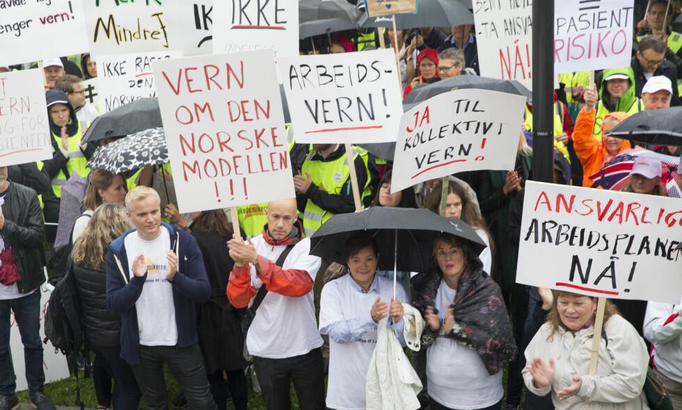 STREIKET: Sykehusstreiken startet 7. september. Foto: Terje Bendiksby / NTB Scanpix