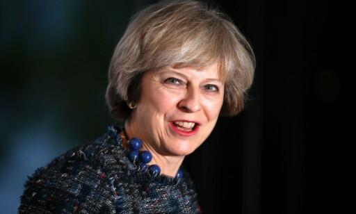 STATSMINISTER: Englands Theresa May har kjempet hardt for den nye overvåkningsloven. Foto: AFP / Adrian DENNIS / NTB Scanpix