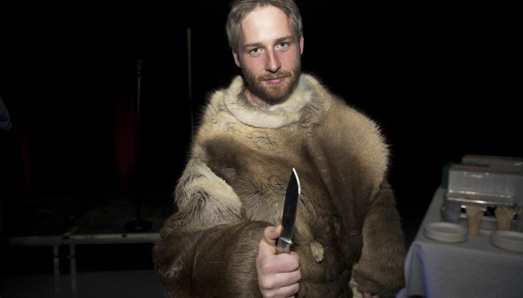 <strong>KONTROVERSIELL:</strong> Andreas Nørstrud fikk mye oppmerksomhet for uttalelsene sine på «Farmen» i 2012. Her fra finalefesten. Foto: Øistein Norum Monsen / Dagbladet