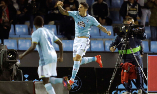 AVGJORDE: Pablo Hernandez satte inn Celta Vigos 4-2-scoring mot Barcelona på komisk vis. Foto: REUTERS/Miguel Vidal