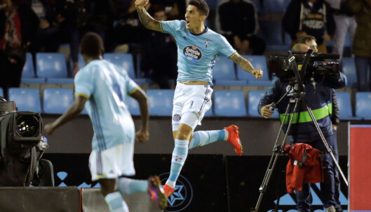 <strong>AVGJORDE:</strong> Pablo Hernandez satte inn Celta Vigos 4-2-scoring mot Barcelona på komisk vis. Foto: &nbsp;REUTERS/Miguel Vidal
