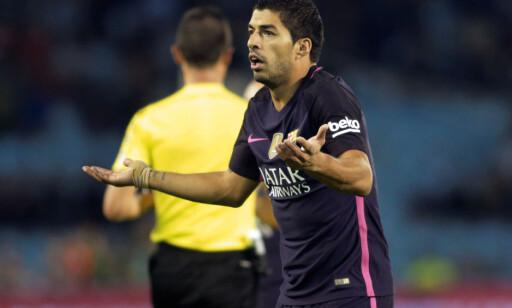 FORTVILTE: Luis Suarez fortvilte etter tapet mot Celta Vigo. Foto: REUTERS/Miguel Vidal