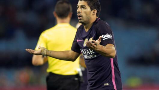 <strong>FORTVILTE:</strong> Luis Suarez fortvilte etter tapet mot Celta Vigo. Foto: REUTERS/Miguel Vidal
