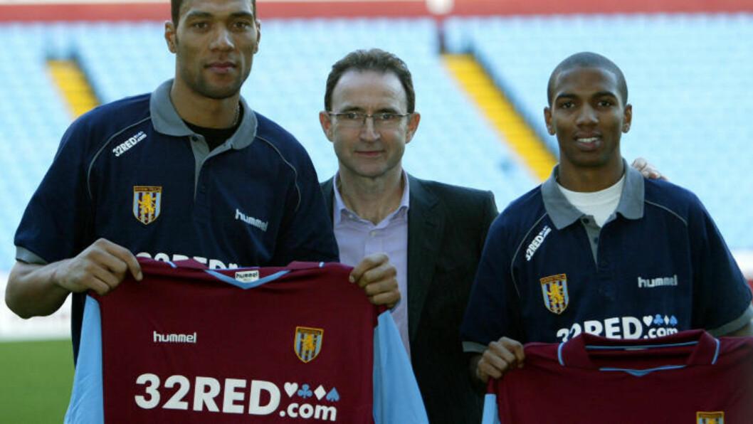 <strong>TRE ÅR I VILLA:</strong> John Carew var toppscorer for Martin O'Neill i Aston Villa hver eneste sesong. Her med vingen Ashley Young (t.h), som også ble kjøpt inn januar 2007. Foto:AFP/PAUL ELLIS