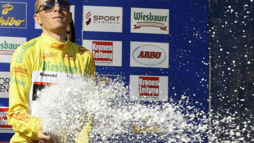 <strong>I TET:</strong> Her feirer Riccardo Ricco sin ledelse i et ritt i Østerrike i fjor sommer. Foto: REUTERS/Dominic Ebenbichler