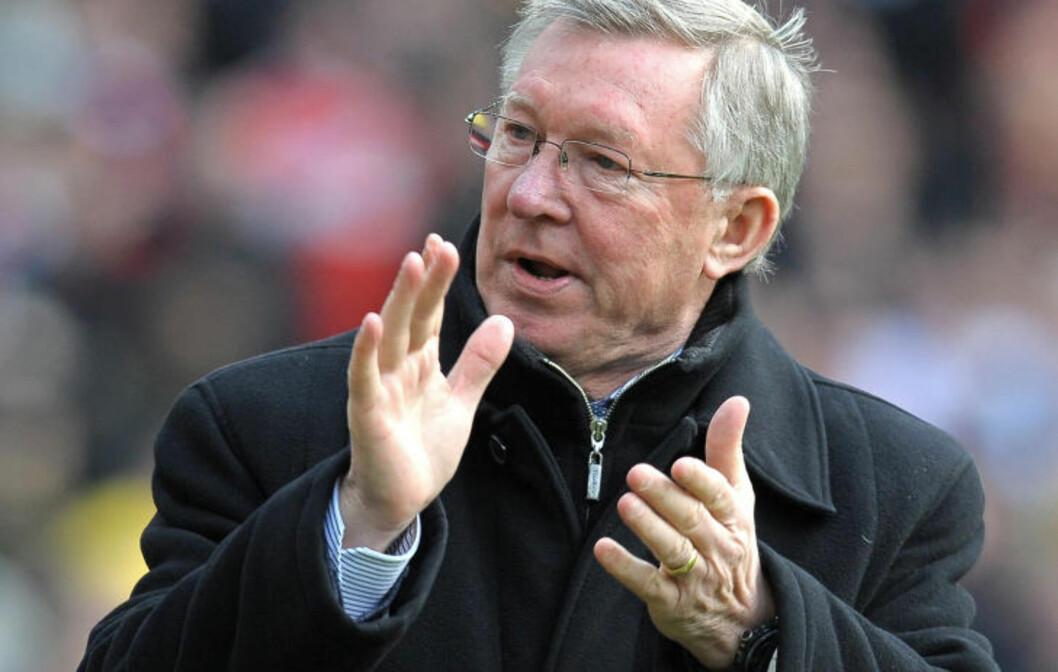 VIL HA MER: Sir Alex Ferguson krever mer av sine spisser, på tross av fantommålet til Rooney. Foto: AFP/ANDREW YATES