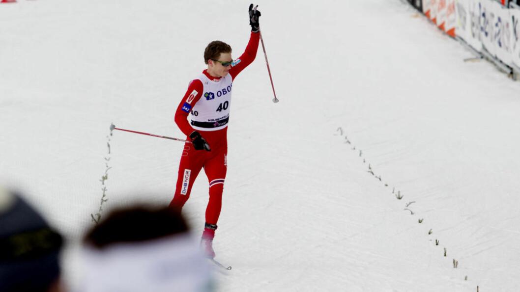<strong>TRIVES I KOLLEN:</strong> Petter Eliassen gikk inn til sin beste internasjonale plassering i karrieren da han ble nummer ti på femmila i Holmenkollen i fjor.Foto: Kyrre Lien/Scanpix