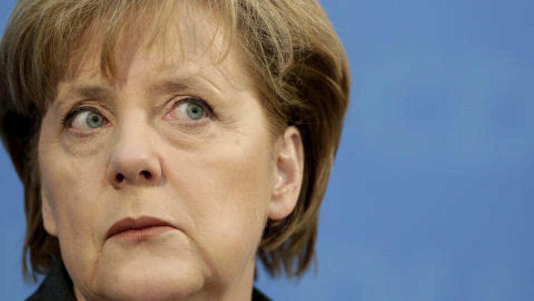 <strong>SKREMT:</strong> Forbundskansler Angela Merkel. Foto: AP Photo/Michael Sohn