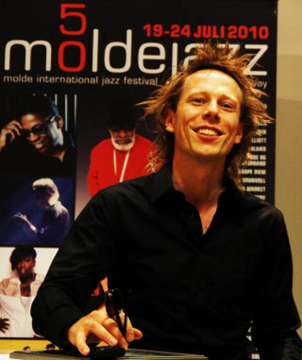 TILBAKE:  Stian Westerhus fikk pris under Moldejazz i fjor og kommer tilbake med nytt prosjekt i år. Foto: Terje Mosnes/Dagbladet
