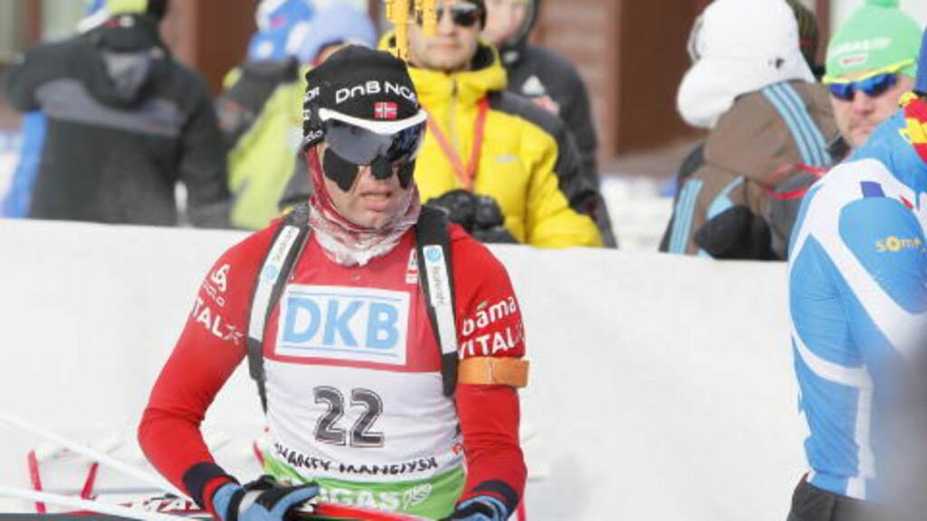 TILBAKE? Ole Einar Bjørndalen gikk et godt løp, og være å ta sølv. Foto: Heiko Junge / Scanpix