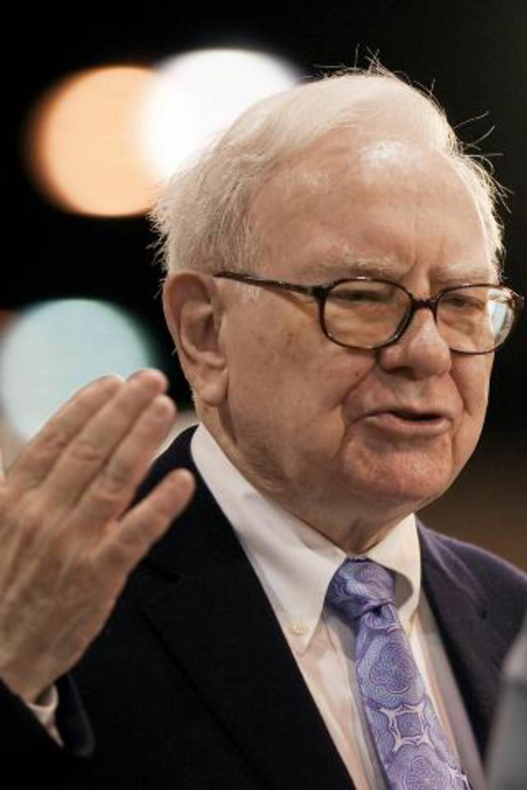 <strong>TREDJE RIKESTE:</strong> Warren Buffett i investorselskapet Berkshire Hathaway er verdens tredje rikeste, ifølge Forbes. Foto: AP Photo/Nati Harnik/Scanpix