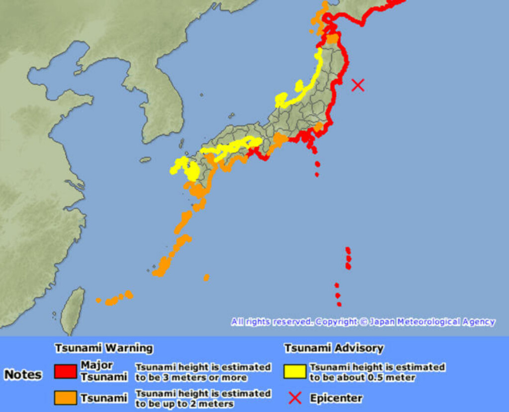 Grafikk: Japan Meteorological Agency