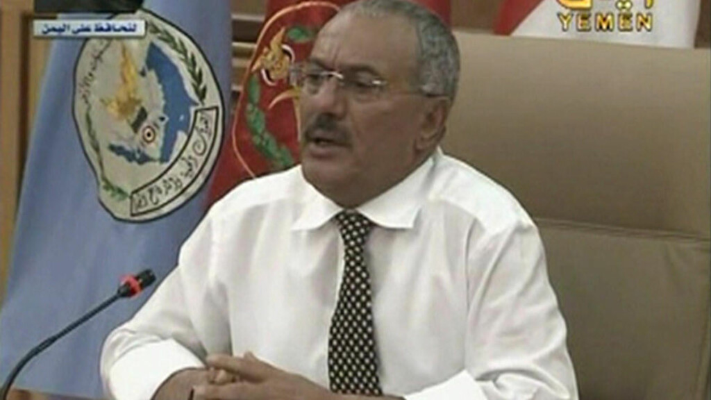 ADVARER: President Ali Abdullah Saleh. Foto: REUTERS/Yemeni TV via Reuters TV/Scanpix