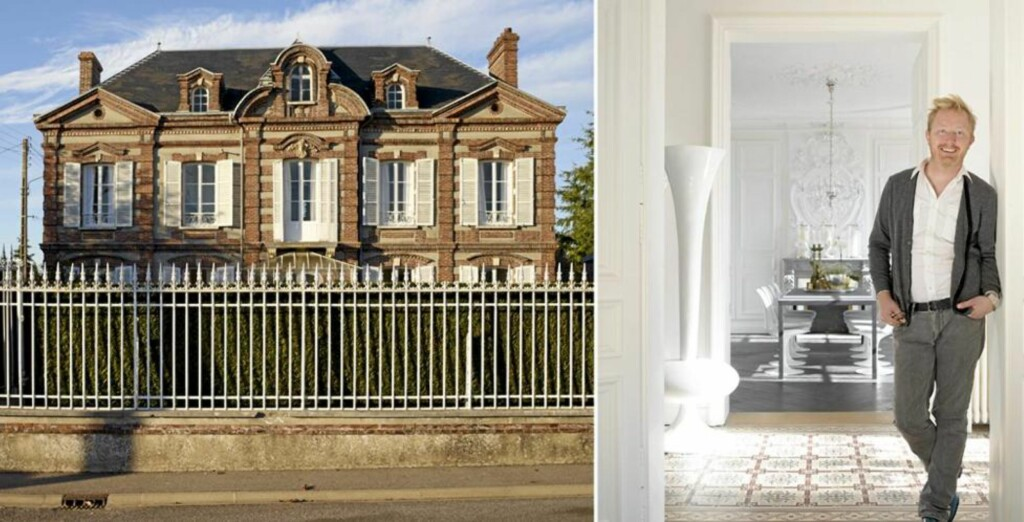 DRØMMEHUSET: Nordmannen Morten Oren har pusset opp en herskapelig villa i Normandie.  FOTO: Ragnar Hartvig