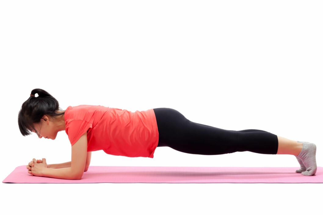 PLANKEN: God øvelse for gravide Foto: Shutterstock ©