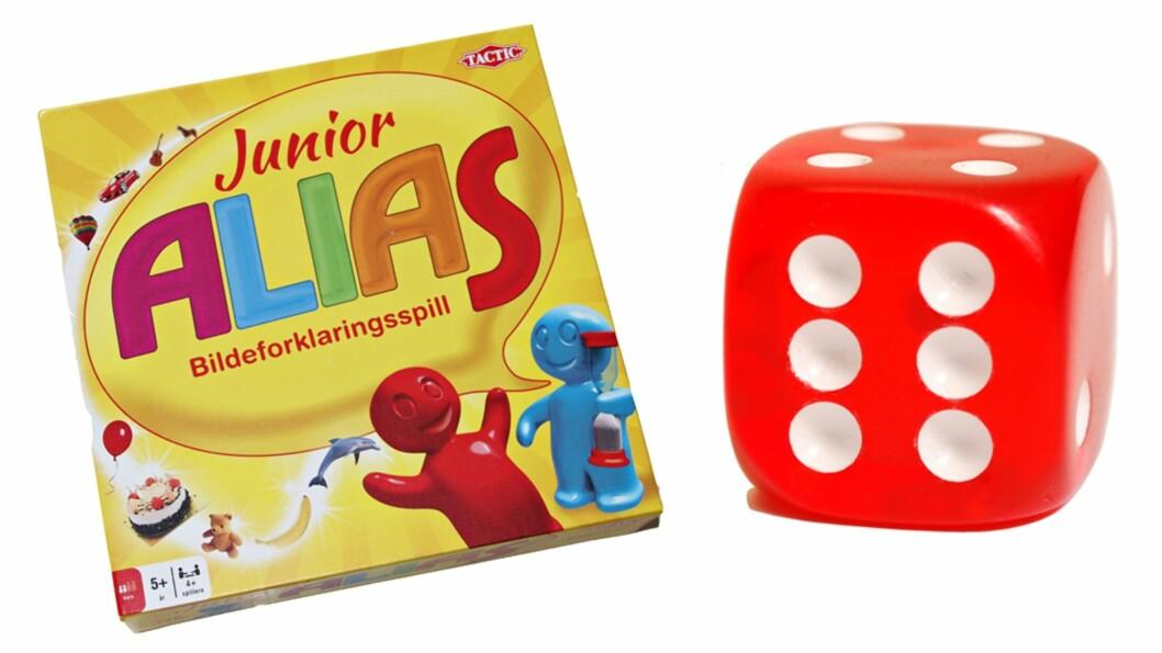 JUNIOR ALIAS: Brettspillet som både er morsomt og lærerikt. Foto: Produsenten