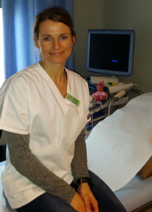JORDMOR: Stine Lønne Wigestad anbefaler å unngå sport med fare for traume når man er gravid. Foto: privat