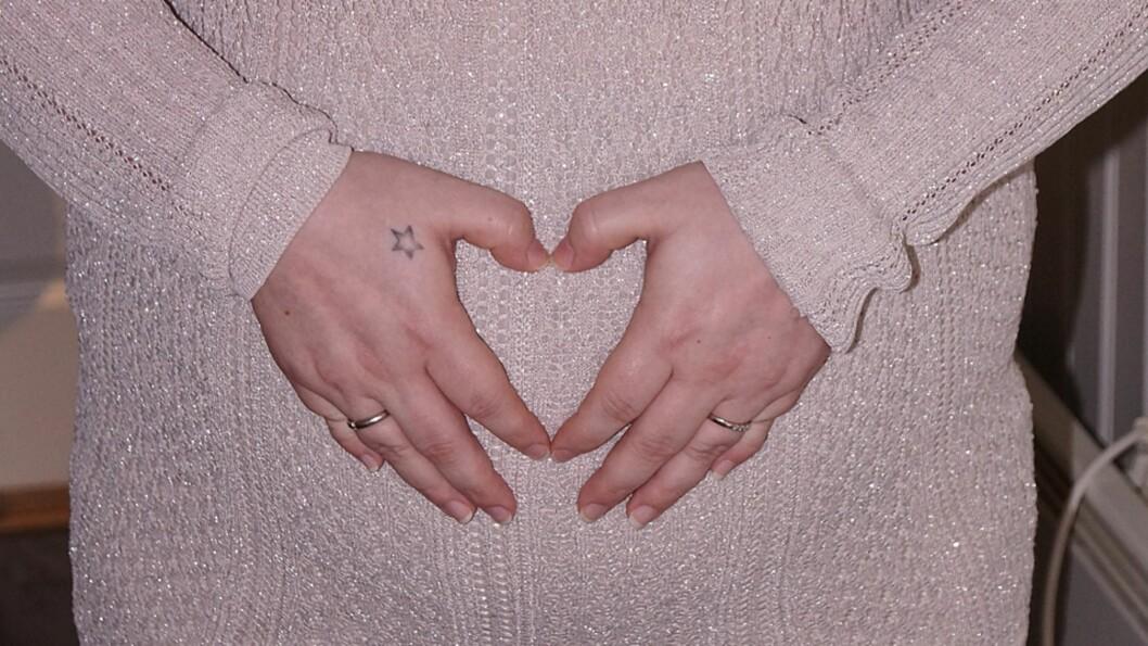 <b>FRARÅDET EN NY GRAVIDITET:</b> Den alvorlige hjertesykdommen gjør at Kine mest sannsynlig ikke kan få flere barn. Foto: Privat