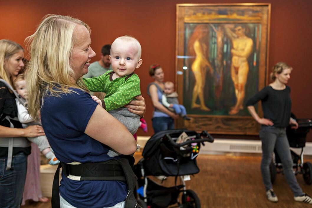 KUNST FOR STORE OG SMÅ: Den første onsdagen i hver måned arrangerer Munch Museet «Babyskrik». Foto: Munch Museet